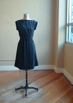 Black Triangle Dress Cotton Jersey made to order by outofline, $120.00