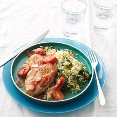 Made this tonight...Sooo good...Restaurant quality.  Sauted Chicken Cutlets and Cherry Tomatoes with Spinach Orzo