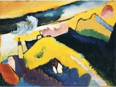Walled City in Autumn Landscape - Wassily Kandinsky - WikiPaintings.org
