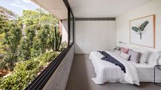 CO-AP adds contemporary concrete and glass extension to semi-detached Sydney home Semi Detached, Detached House, Glass Extension, Interior Architecture, Interior Design, Decoration Design, Story House, Two Bedroom, Bedroom Artwork