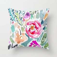 Walk+in+the+Park+Throw+Pillow+by+Barbarian+|+Barbra+Ignatiev+-+$20.00