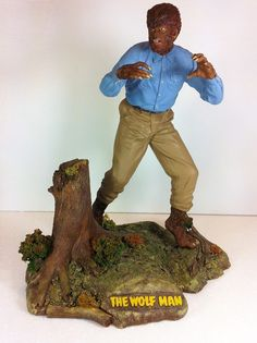 UNIVERSAL MONSTERS WOLFMAN Geometric Resin Kit Pro Built & Painted Lon Chaney in Toys & Hobbies | eBay