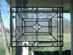 Beveled Star & Clear Textures Stained Glass Window Panel Made to Order Please Allow 4 Weeks This stained glass window panel was designed and Leaded Glass Windows, Stained Glass Panels, Stained Glass Art, Stained Glass Designs, Stained Glass Projects, Stained Glass Patterns, Beveled Glass, Mosaic Glass, Glass Texture