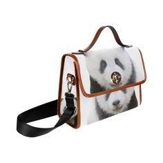 Panda Bear Waterproof Canvas Bag/All Over Print. FREE Shipping. #artsadd #bags #pandas