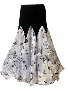 Tiffany White Ballroom dance skirt