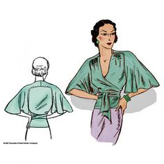 Schnittmuster: 3005 - 1930s Butterfly Blouse