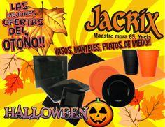 Jacrix,  tiene unas ofertas terroríficas en vaso,platos y manteles para estas fechas de celebraciones y eventos familiares!!!