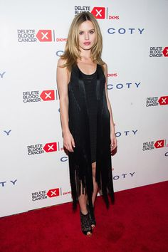 Showing support: Georgia May Jagger was spotted at the annual Delete Blood Cancer Gala, held at New York City's Cipriani Wall Street on Thursday evening Kate Bosworth, Georgia May Jagger, Fringe Dress, Denim Fashion, Nice Dresses, Top, Street Style, Fancy, Style Inspiration