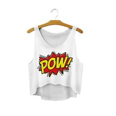 POW! printed tops gifts girls croppedtops