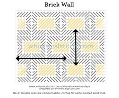 Just Another Brick in the Wall — whimsicalstitch.com