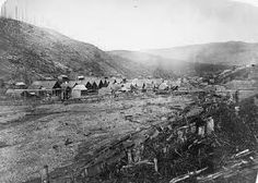 The village of Barkerville circa. 1865 at the height of the Caribou Gold Rush What Is Living, Fraser River, Gold River, Big Sky Country, Canadian History, Canada, Gold Rush, Old West, History Facts
