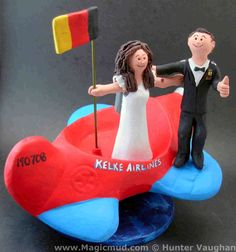 Parachutist's Wedding Cake Topper by www.magicmud.com $250 1 800 231 9814 mailto:magicmud@m... blog.magicmud.com twitter.com/... www.facebook.com/... #parachutist#airplane#plane#pilot#wedding #cake #toppers #custom #personalized #Groom #bride #anniversary #birthday#weddingcaketoppers#cake toppers#figurine#gift#wedding cake toppers