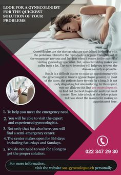 Are you looking for a Gynecologist for the fastest solution of your pain? This infographic presentation will help you. Geneva, Fertility, Disorders, Infographic, Presentation, Things To Come, Feelings, Health, Info Graphics