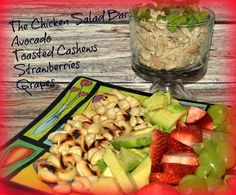 SERVING CHICKEN SALAD IN MINI TRIFLE BOWLS AND HAVING EVERYONE ADD THEIR OWN TOPPINGS MADE THIS EXTRA FUN!!! OF COURSE, MINI TRIFLE BOWLS ARE NOT A NECESSITY HERE…USE WHAT YOU HAVE! TOAST UP SOME CRUSTY BREAD AND HERE YOU HAVE THE PERFECT SANDWICHES!1. TOAST CASHEWS IN A DRY SKILLET JUST A FEW MINS ON MEDIUM … Salad Bar, Soup And Salad, Pasta Salad, Wine Recipes, Salad Recipes, Healthy Recipes, Mini Trifle, Lunch Snacks, Fabulous Foods