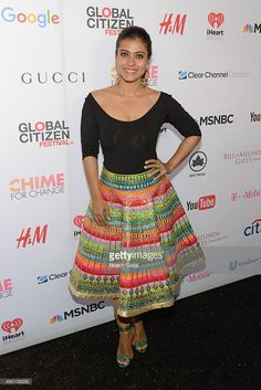 Bollywood actress Kajol Devgan attends the 2015 Global Citizen Festival to end extreme poverty by 2030 in Central Park on (September 26, 2015) in New York City.