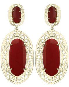 Darian Drop Earrings in Dark Red - Kendra Scott Jewelry. Take 20% off through Labor Day w/code LDW2013 while in stock!