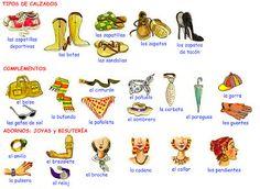 Me encanta escribir en español: la ropa
