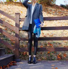 에잇세컨즈 코트(8seconds),가죽레깅스,로미백 파이톤클러치,에코 앵클부츠(ECCO),국내 패션블로거,패션블로거 스윗나나 데일리룩 : 네이버 블로그