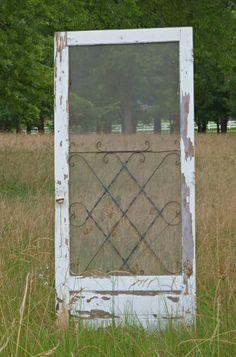 "favor table backdrop...""SMITH"" Antique Screen Door"