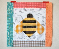 Quilty Fun Sew Along: Bumble Bee Block