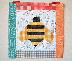 Pink Penguin: Quilty Fun Sew Along: Bumble Bee Block