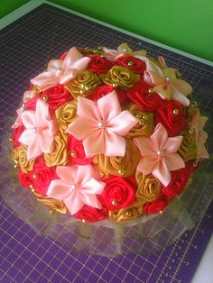 Košík s kvetinami