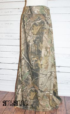 RealTree Camo Maxi Skirt Knit Womens and Plus Size Camouflage Real Tree  Long XS S M L XL XXL 3X 4X AmyAnne Duck Dynatsy Hunting by AmyAnneApparel on Etsy