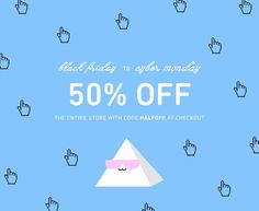 Today is the day! Take 50% off your entire purchase with the code 'HALFOFF'. A unique gift for the holidays for someone special  HAPPY SHOPPING!