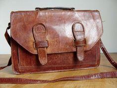 Vintage Tasche Leder // vintage leatherbag by Anbahner via DaWanda.com