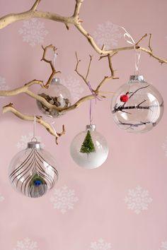 Upgrade a Plain Glass Ornament  - CountryLiving.com