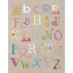 Alphabet Sampler Free Style Embroidery Kit-12