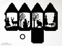 Laternen - Bastelset Laterne »Winterzauber« — schwarz - ein Designerstück von misskittys bei DaWanda