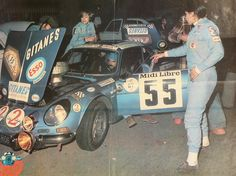 The Alpine A110 and the two most awesome ladies ever: Michele Mouton and Françoise Conconi.