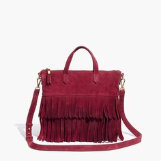 Madewell The Transport Crossbody: Suede Fringe Edition