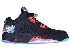 a9760aae0d6eeb Nike Air Jordan 5 V Retro Low China CNY Black Bright Crimson (840475-060)