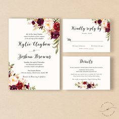 A personal favourite from my Etsy shop https://www.etsy.com/in-en/listing/473407011/bohemian-wedding-invitation-suite-fall
