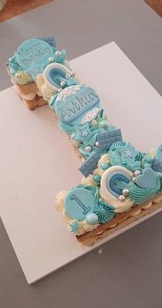 Number 1 Birthday Cake Boy, Number One Cake, Truck Birthday Cakes, Boys 1st Birthday Cake, Number Cakes, Number Cake Toppers, Cupcakes, Cupcake Cakes, Princess Theme Cake