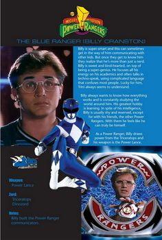 The Blue Ranger (Billy Cranston)