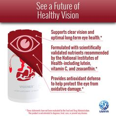 I've recently had friends tell me who have been using Visionex that their vision has actually improved! I mean wow! It's just science! Coupled with Usana's Essentials may garner some better results! Check out the product here: noel_kachaturian.usana.com Health And Wellness, Health Care, Wellness Industry, True Health, Healthy Eyes, National Institutes Of Health, Nutritional Supplements, People Around The World, Healthy Lifestyle