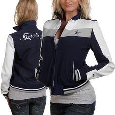 2b54a1bb1 Dallas Cowboys Ladies Navy Blue Bonded Softshell Full Zip Jacket Dallas  Cowboys Hoodie