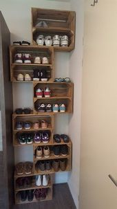 27 Cool & Clever Shoe Storage Ideas for Small Spaces - #Clever #Cool #Ideas #Shoe #Small #Spaces #storage