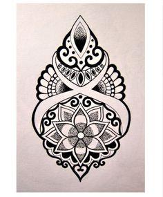 Awesome design tatoo mandala tattoo, tattoos e mandala tattoo design. Mandala Tattoo Design, Mandala Drawing, Tattoo Designs, Tattoo Drawings, Body Art Tattoos, New Tattoos, Sleeve Tattoos, Inspiration Tattoo, Tattoo Painting