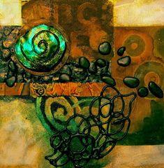 "Mixed Media Abstract Painting ""Texture Sampler"" © Carol Nelson Fine Art | Mixed Media Artists International | Bloglovin'"