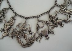 Magnificent RARE MARGOT DE TAXCO Sterling Silver Zodiac 12 Figural from atwinkleintime on Ruby Lane