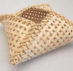 Bamboo pillow basket via Chicago Weaving School: