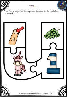 Aprendemos las vocales con este divertido puzzle - Imagenes Educativas Grammar Activities, Letter Activities, Interactive Activities, Preschool Worksheets, Preschool Activities, Learning English For Kids, English Lessons For Kids, Kids English, Bilingual Education