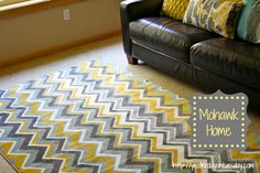 Rec Room Revamp and A Mohawk Carpet Giveaway #mohawkhome #chevron #ziggidy
