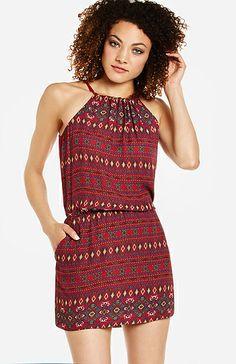 Tribal Drop Waist Dress   DAILYLOOK