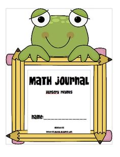 Here's a set of math journal prompts related to nursery rhymes.