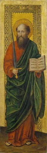 Bergognone (Ambrogio da Fossano) - San Paolo (Dittico Baglioni) - 1480-1490 circa - Accademia Carrara di Bergamo Pinacoteca